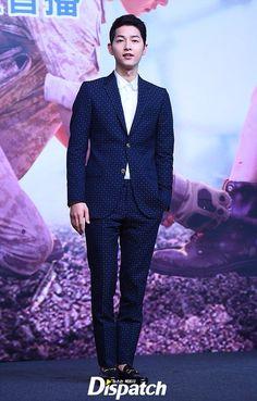 160405 • Song Joong Ki for 태양의 후예 Press Conference at Hongkong