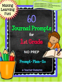 Looking for an easy and fun way to meet common core writing standards for first graders? Engaging and easy to use, just print the prompts and you are ready. Each prompt lists the common core standard on the bottom of the sheet.