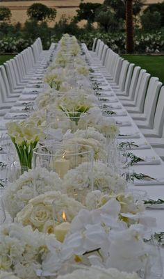 Wow your wedding guests with these truly statement-making floral arrangements from the celebrity floral designer Jeff Leatham! There are so many drop-dead gorgeous wedding flower ideas to devour in the gallery below! All White Wedding, Mod Wedding, Floral Wedding, Wedding Events, Wedding Flowers, Dream Wedding, Reception Decorations, Event Decor, Wedding Centerpieces
