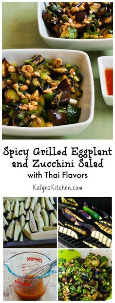 For years I've been telling people to give grilled eggplant a chance, and this Spicy Grilled Eggplant and Zucchini Salad with Thai Flavors is one of my favorite things to make with it!  [from KalysKitchen.com]