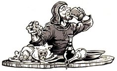 oldschoolfrp:Feast day! (Kevin Siembieda,from D&D adventureTower of Ulission, Judges Guild, 1980.)