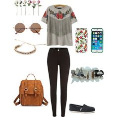 love this set ♡♡! ._. by loverofeverything8infinite on Polyvore featuring polyvore fashion style River Island TOMS Merona Forever 21