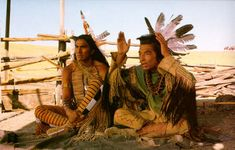Wind In His Hair played by Rodney A Grant and Kicking Bird played by Graham Greene in Dances With Wolves 1990