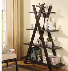 Shop Coaster Furniture Cappuccino Wood 4 Shelves Bookcase with great price, The Classy Home Furniture has the best selection of Bookcases to choose from 4 Shelf Bookcase, Etagere Bookcase, Bookcases, Bookshelf Diy, Corner Shelves, Bookcase Plans, Barrister Bookcase, Corner Unit, Book Shelves