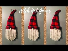 In this video, I show you how to make this cute gnome wreath using a Dollar Tree witch hat frame. Materials needed 1 witch ha. Dollar Tree Decor, Dollar Tree Crafts, Cute Crafts, Holiday Crafts, Simple Crafts, Christmas Gnome, Christmas Projects, Christmas Wreaths, Christmas Decor