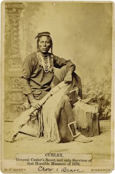 +~+~ Antique Photograph ~+~+  Native American Indian 'Curley' General Custer's Scout and only survivor of the horrible massacre of 1876.