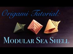 Origami Tutorial: Modular Sea Shell (Tomoko Fuse)|折纸教程:组合海螺 - YouTube