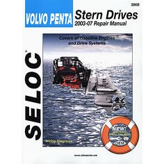 Repair manual 6th edition cd only simply the best handbook for seloc marine stern drive inboard repair manual for volvopenta 03 07 overtons fandeluxe Images