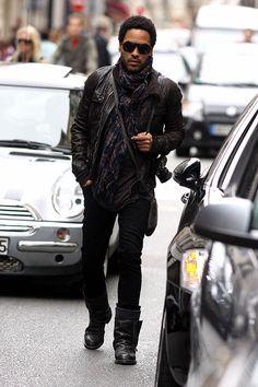 Lenny Kravitz, this man's got style!