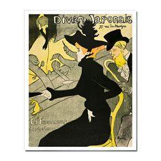 Henri de Toulouse-Lautrec: Divan Japonais 16 x 20 in. Print