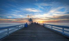 This one was taken at sunset on the beautiful San Clemente pier. The sunset was coming on, and it was a high-pressure time to get up onto the pier and find a good spot. - San Clemente, California - photo from #treyratcliff Trey Ratcliff at http://www.StuckInCustoms.com