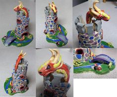 clay castle art lesson - Google Search