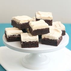 Salted Caramel Frosted Kahlua Brownies