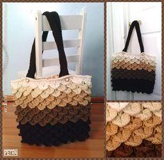 Pretty and elegant crocodile stitch purse