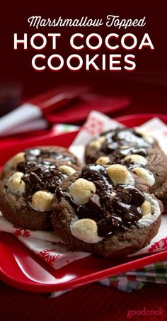 Hot Cocoa Cookies - All the flavor of your favorite winter drink baked into a cookie. For the ultimate treat, enjoy warm with a glass of cold milk. | holiday cookies | cookie exchange | holiday baking