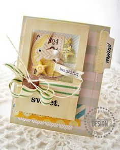 Adorable for a baby card!  Creative Paper Trail: up for a challenge...