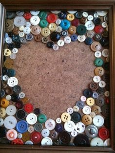 Crafting with old buttons. Heart.
