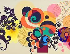 Beatriz Milhazes kaleidoscope paintings