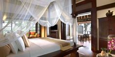 Banyan Tree Bintan: Seafront Villas start at 904 square feet and have a timber deck with a jet pool.Banyan Tree Bintan in Bintan, Indonesia