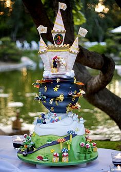 Unbelievable Mario Kart/ Mario Galaxy wedding cake!