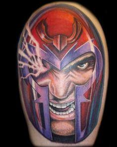 2227e4fe6 X- Man Tattoos Dc Tattoo, Helmet Tattoo, Nerdy Tattoos, Cool Tattoos For