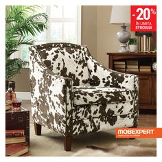Check out the Coaster Furniture 902134 Cow Pattern Accent Chair in Brown/White Cow Pattern Patterned Chair, Coaster Fine Furniture, Cool Furniture, Furniture Ideas, Furniture Websites, Inexpensive Furniture, Furniture Chairs, Leather Furniture, Couches