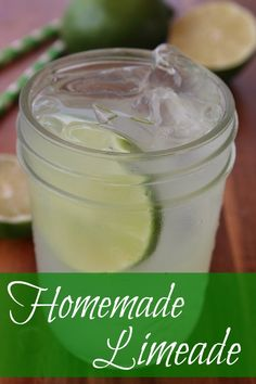 Homemade Limeade :: Homemade limeade has all the crisp, cool refreshment that lemonade does, but the tangy lime taste gives it an extra kick that's hard to beat. It's a great alternative to lemonade, soda and iced tea when you want something refreshing, but a little unique.