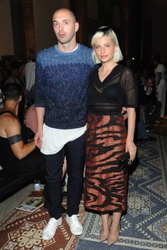 Nico Vascellari and guest wearing Missoni while attending Missoni Men's Summer 2015 Fashion Show