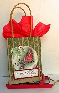 a christmas gift bag
