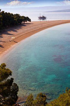 Zlati Rat ( Golden Cape  beach ) Brač island, Croatia