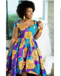 Latest 2019 Short Ankara Gowns for Women Ankara Short Gown Styles, Trendy Ankara Styles, Ankara Gowns, Ankara Dress, Kente Styles, Ankara Blouse, Latest African Fashion Dresses, African Dresses For Women, African Print Dresses