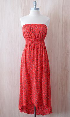 Long Weekend Dress, Tomato Red