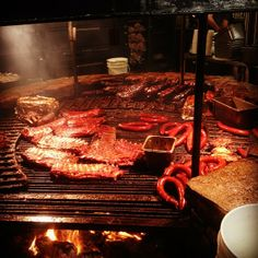 Salt Lick in Driftwood, Texas-They seriously have the best bar-b-qued food I have ever had in my entire life...& I have spent most of my life here in Texas.