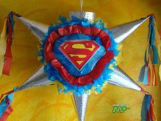 """Pinata Superman Classic Superhero Logo Piñata Hand Crafted 26""""x26""""x12"""" [Holds 2-3 Lb. Of Candy][for Any Ocasion] , http://www.amazon.com/dp/B0053LM3AQ/ref=cm_sw_r_pi_dp_2nj5rb023TF2S"""