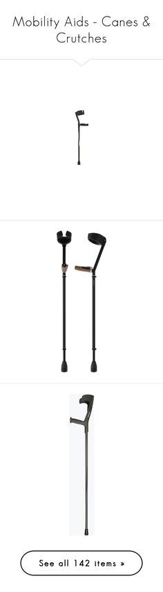 """""""Mobility Aids - Canes & Crutches"""" by grumpy-disabled-feminist ❤ liked on Polyvore featuring disability, accessories, home, home improvement, men's fashion, men's accessories, home decor, curiosities, vintage walking stick and vintage home accessories"""