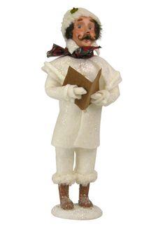 The Jolly Christmas Shop - Byers Choice Winter White Caroler Family Man Figure 104M, $70.00 (http://www.thejollychristmasshop.com/byers-choice-winter-white-caroler-family-man-figure-104m/?page_context=category