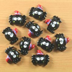 Lot 10pcs Halloween Spider W/ Hat For Party by TheButtonSisters
