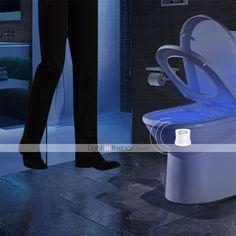 BRELONG 1 pc 8-color Human Motion Sensor PIR Toilet Night Light 2020 - US $6.49 Toilet Bowl Light, Novelty Lighting, Lighting Online, Washroom, Child Safety, Night Light, Color Change, Bathroom Lighting, Bathroom Light Fittings