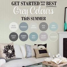 Not quite 50 shades of grey, but almost! Moon Knight, 50 Shades Of Grey, Colour Inspiration, Living Area, Letting Go, Bathroom Ideas, Paint Colors, Gray Color, Nursery