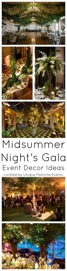 Decoration ideas for the gala event on midsummer night Unique Pastiche Events - Diy and crafts interests Gala Themes, Event Themes, Event Decor, Event Ideas, Dinner Party Decorations, Wedding Decorations, Wedding Ideas, Evening Garden Parties, Forest Decor