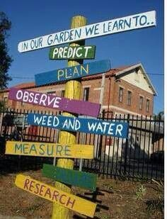 In our garden we learn to...