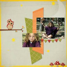 Kit in the forest de Scrap de Yas, photo RAK Caroline, layout by Toupie