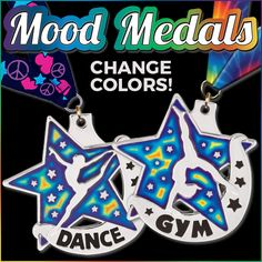 Mood Medals From #CrownAwards Actually Change Colors! Your #Gymanstics & #Dance Stars Will Flip For This Medal! Get Yours Today https://www.crownawards.com/StoreFront/0ES.2%22_Mood_Medals.cat