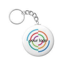 ADD Your LOGO CUSTOM company business CORPORATE Keychain - business template gifts unique customize diy personalize