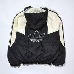 Vintage Sport Jacket 1990s Oldschool Tracksuit Activewear Sweatshirt Blue White Loose Oversize Top Long Retro Hip Hop / Extra Large size OGqfNF