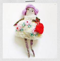 """The English rose """"Emma"""" kit combines basic crochet, knitting and embroidery in a kit set, while providing a lot of fun during the creation of this lovely lady. Crochet Gifts, Knit Crochet, English Roses, Crochet Basics, Softies, Beautiful Dolls, Gifts For Kids, Kit, Embroidery"""
