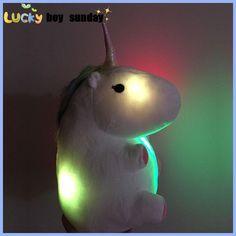 LED grow lighting rainbow Unicorn Plush Toy Cartoon unicorn indoor plush slippers Winter Warm Indoor Slippers Shoes for teenage