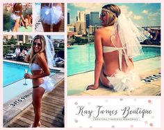 Bridal Booty Veil The bikini veil clips to by KayJamesBoutique, $35.00