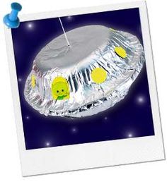 Alien Party Ideas | Alien Party Craft | Flying Saucer Craft at Birthday in a Box