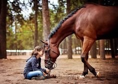 Love between a horse and his little girl. : ) Thoroughbred appendix eventing bay  Lizzie Bee Photography www.lizziebeephotography.com : )